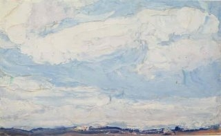 James Britton, %22Cloud Rolls, Mattatuck Hill%22 Waterbury 5 x 8 oil:board, 1926.jpg