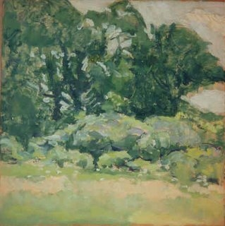James Britton, 3rd of August, (sumac, North Manchester) 1934, 9 x 9, oil on board.jpg