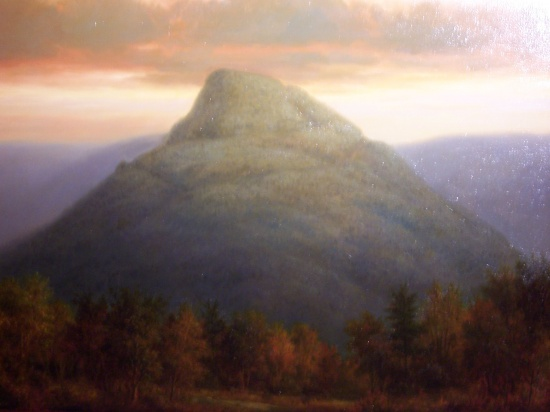 Hunter Mountain 32 x 40 oil on canvas, also study of same, 8 x 10.jpg