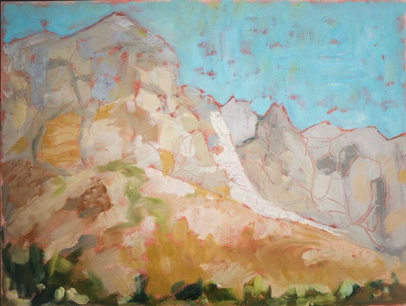 Mt. in South Africa, oil on canvas