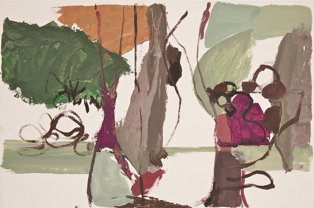 Autumn Menu, 27 x 20, vinyl color on paper
