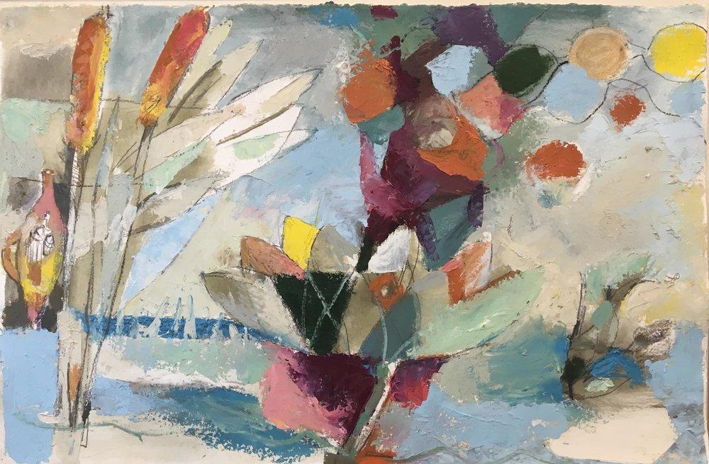 Birdsong, 27 x 20, vinyl color on paper
