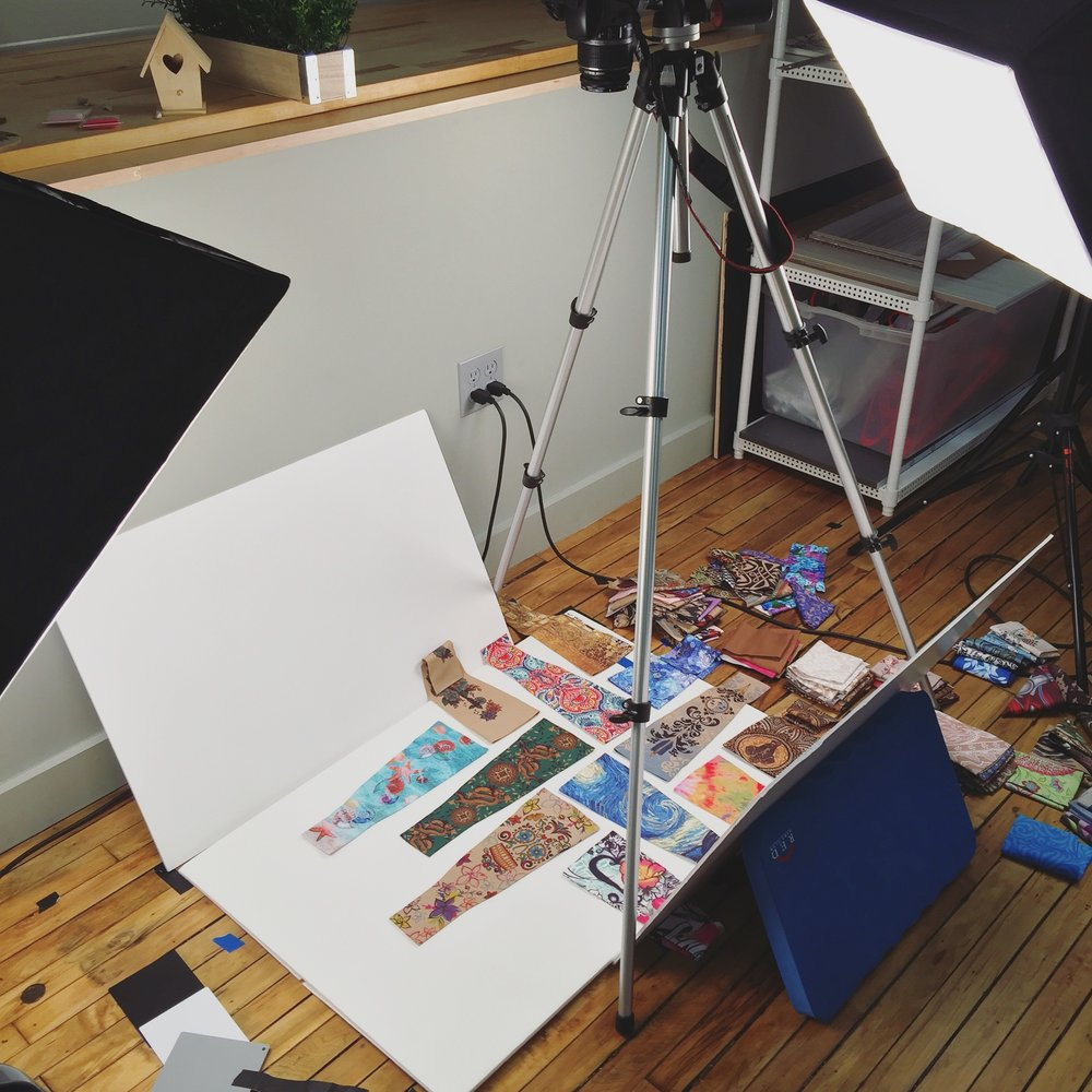 Setting up some styled photos for print and web use.
