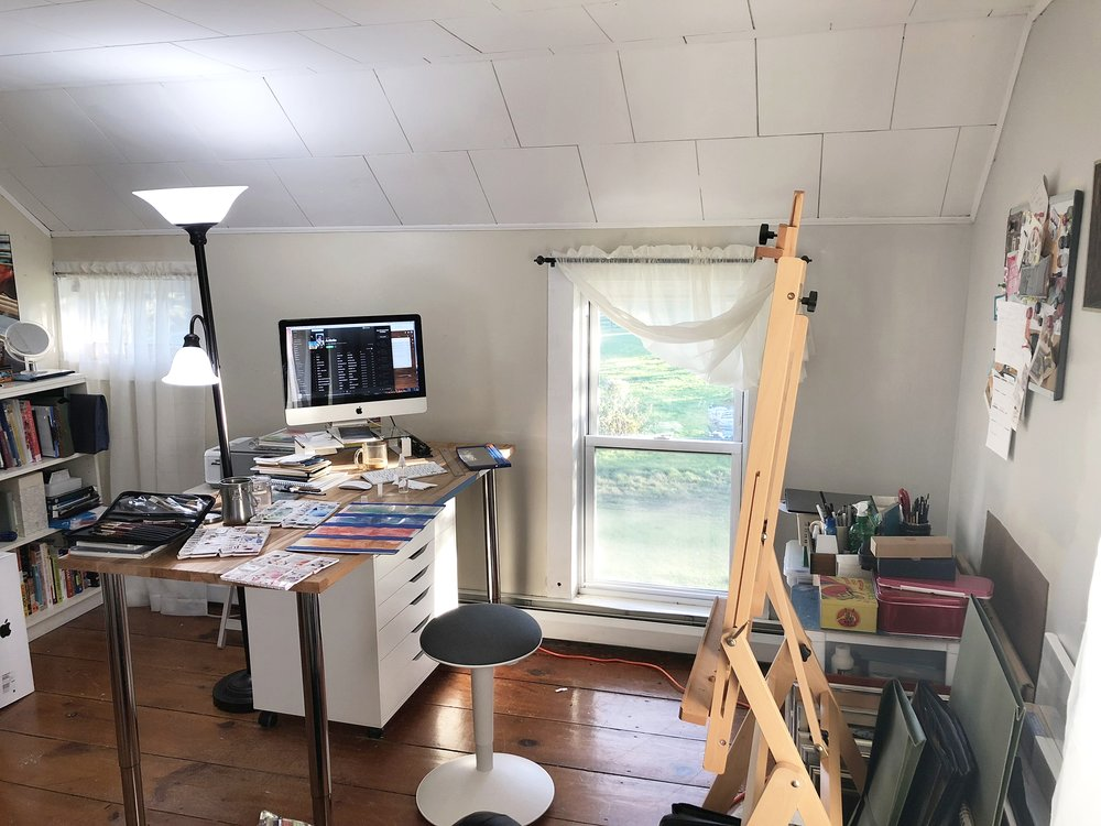 My studio space in our house.