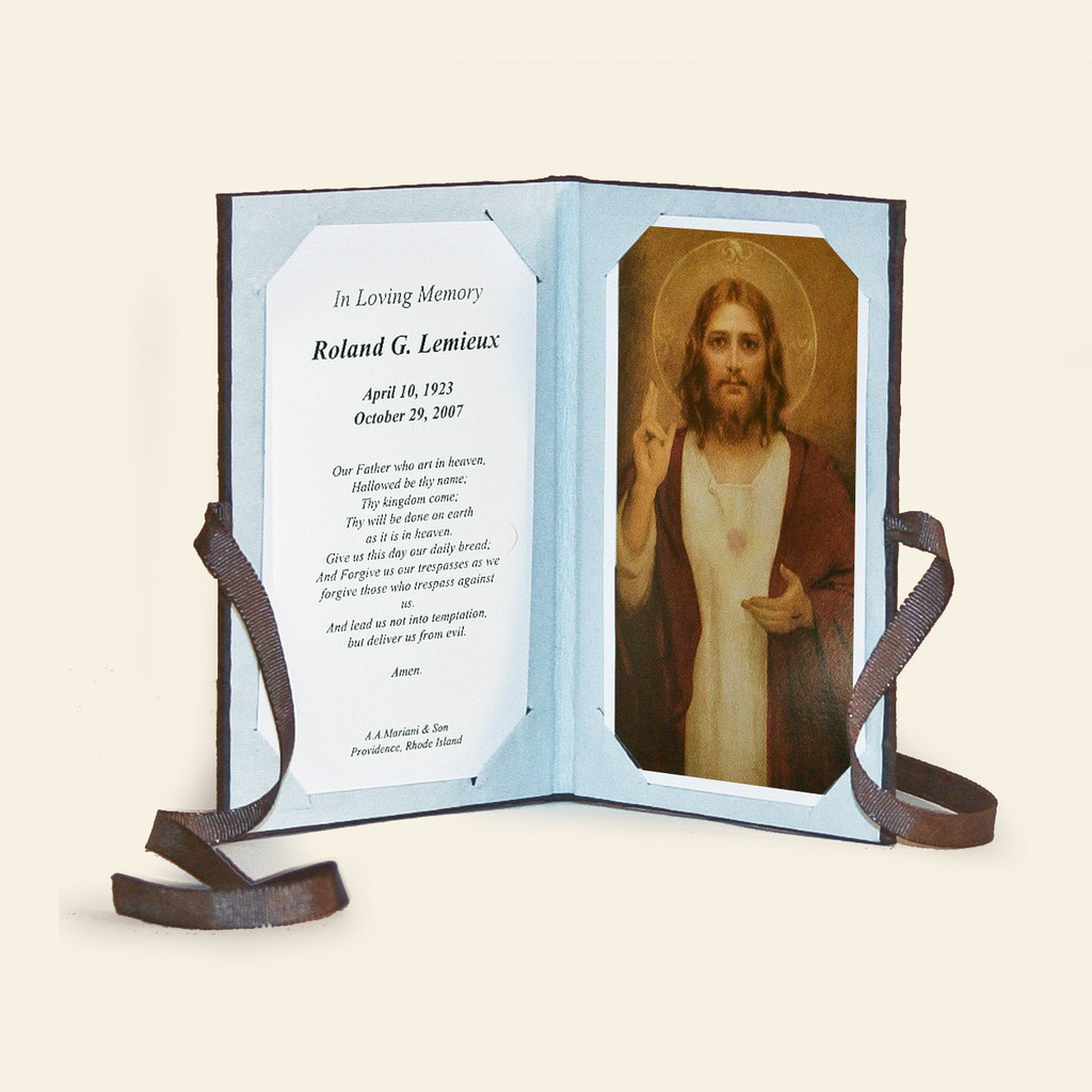 Prayer Card Keepsake Booklet