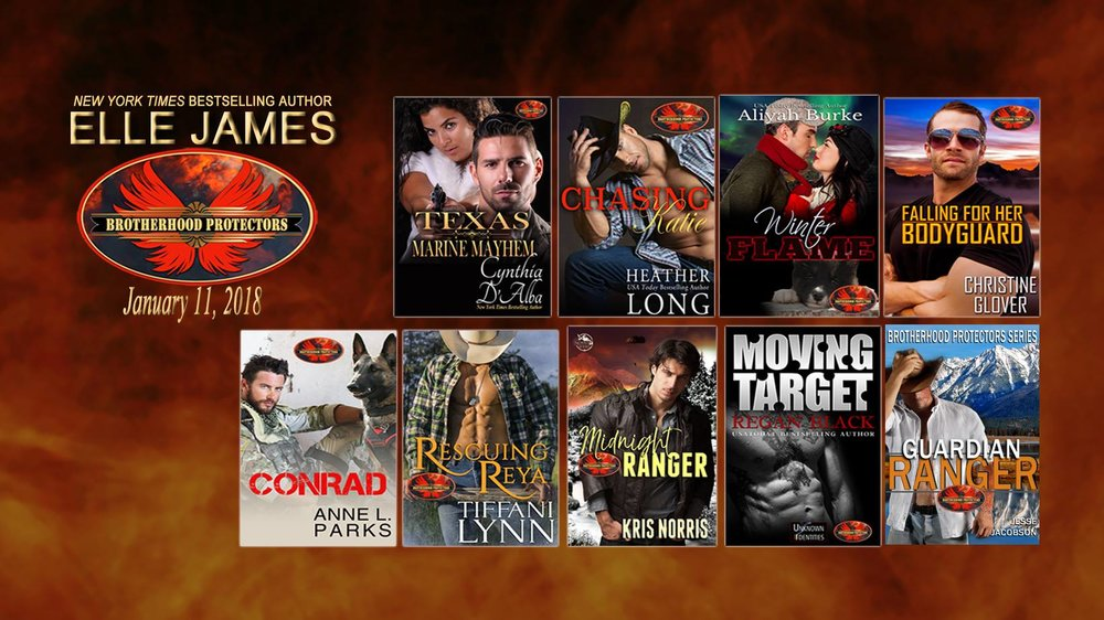 9 BROTHERHOOD PROTECTORS novels by 9 Romance Authors in ELLE JAMES' exciting new Kindle World!! Grab them all today!!