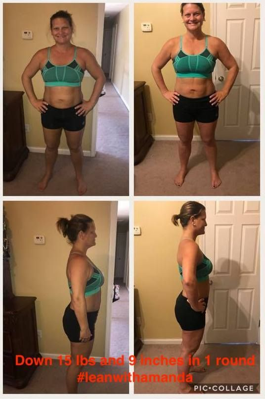 """Ok guys, I just did my measurements. I am down 15 pounds and down a total of 9 inches. I love this program! Thank you so much Amanda! I will def be focusing on intentional exercise the next 7 weeks!"""