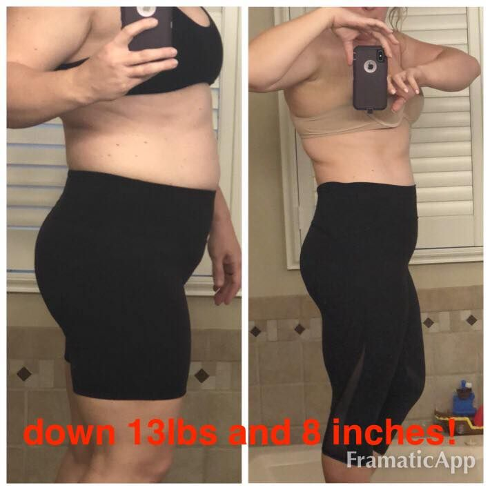 """I lost 13 lbs, 8 inches and gained a whole lot of energy! This program really works, is very doable, and most importantly sustainable. I'm continuing with the program on my own for now but you just may see me back during one of your future rounds! Thank you so much!"""