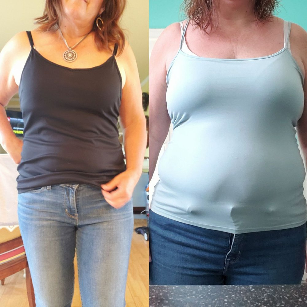 """The number of the day is 14! In the last 7 weeks I lost 14 pounds and 14 inches. (2 inches from my butt, 3.5 inches from my waist, 2.5 from my hips) no wonder my clothes fit better!!! I can't wait to start round 2 of the program."""