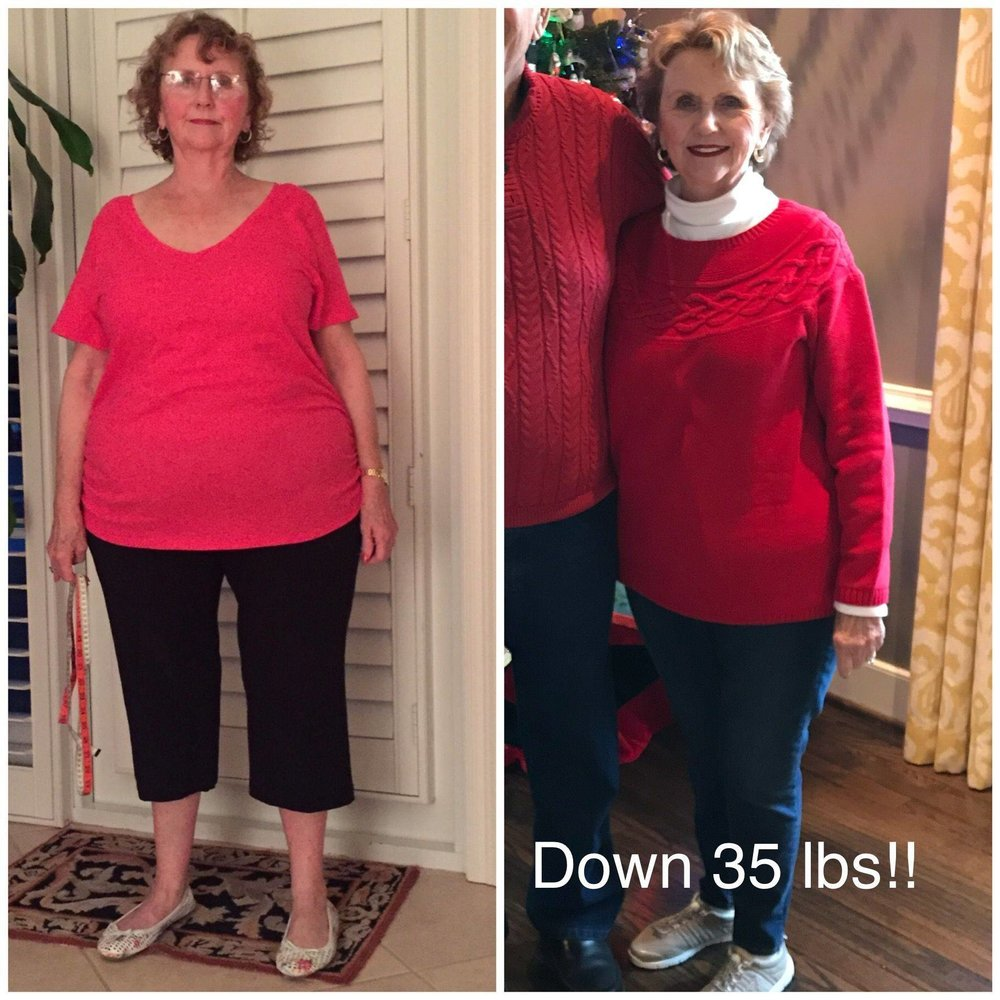 Big shout out to my amazing mother in law for her amazing transformation through out the year! She has been plagued with orthopedic problems that have significantly limited her activity but she did not let that stop her! She focused on the daily fasting and tracked her macros! Six months later she is down an amazing 35lbs and feeling better than ever! I am so proud of her!