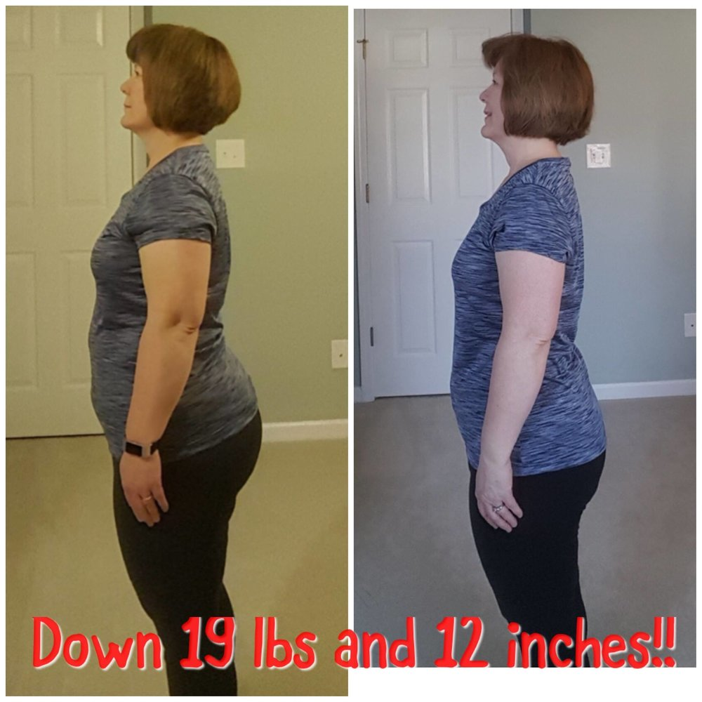 """I wanted you to know I have lost 12 inches and 19 pounds in your 7 weeks on the program. I have no more joint pain, plantar fasciitis foot pain is nearly gone (been treating it for over a year) and the keratosis pilaris on the back of my arms is almost completely gone. I did not exercise beyond walking due to some of these issues so I am very pleased with the results. I plan to continue to follow the program on my own along with exercise. This isn't a diet but a way of life I think I can stick to. Thank you!"""