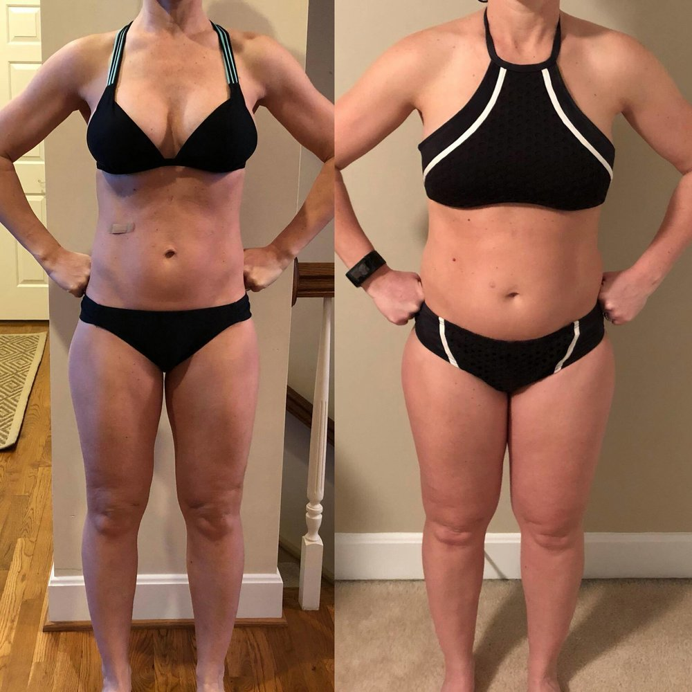 """Nighbert! Thank you so much! I lost 18.8 pounds all while still breastfeeding. I'm stunned at how flat my belly is after never losing my ""pooch"" over 15 years of dieting, the pooch is gone. I lost a total of 17 inches and never felt better! This is something I know I can sustain on my own! THANK YOU!!"""