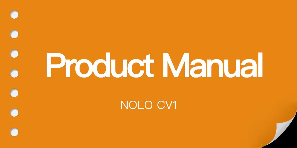 NOLO CV1 Product Manual (User Guide) EN Version