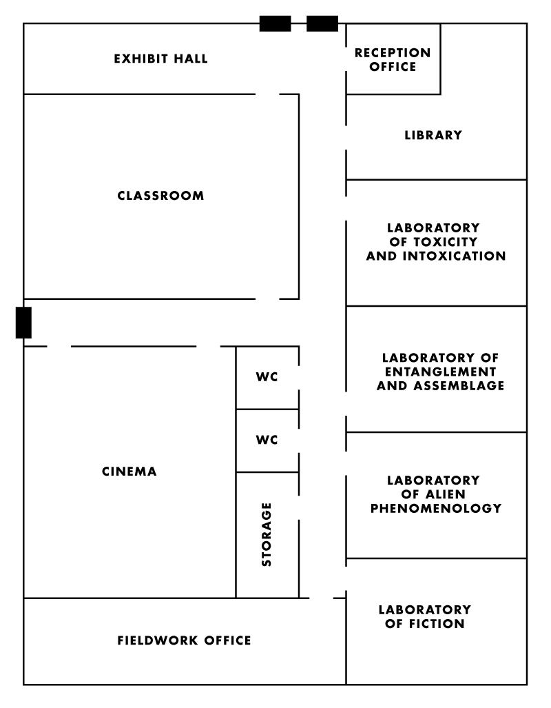 Floorplan for The Department of Discard Culture, Toronto, Canada. 2017.
