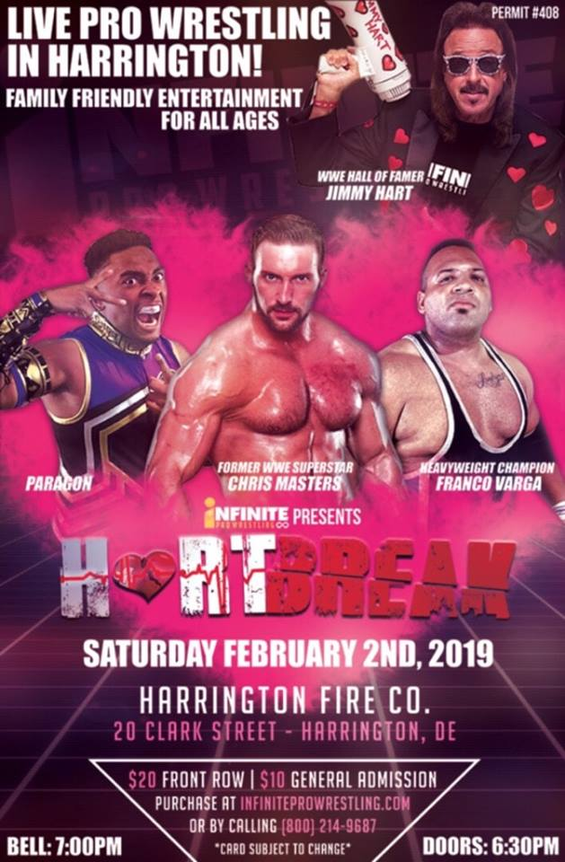 Feb 2, 2019 Heartbreak! - Featuring The Mouth of the South Jimmy Hart, Chris Masters and the first iPPV event! Lamar Wayman receives the Gladiator Award.