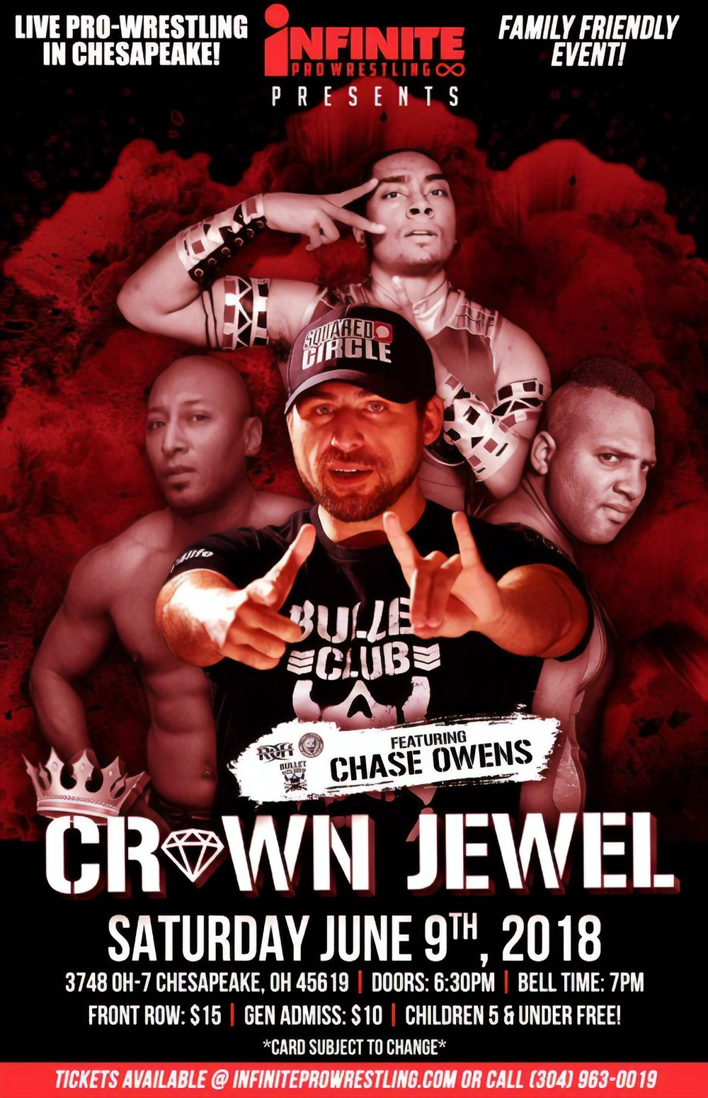 """June 9, 2018 Crown Jewel - Catch the original Crown Jewel event as Franco Varga defends the IPW World Heavyweight Championship against """"The Crown Jewel"""" Bullet Club member Chase Owens!"""