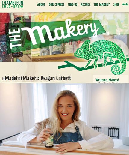 Chameleon Cold-Brew: Austin, TX - #MadeForMakers: Reagan Corbett