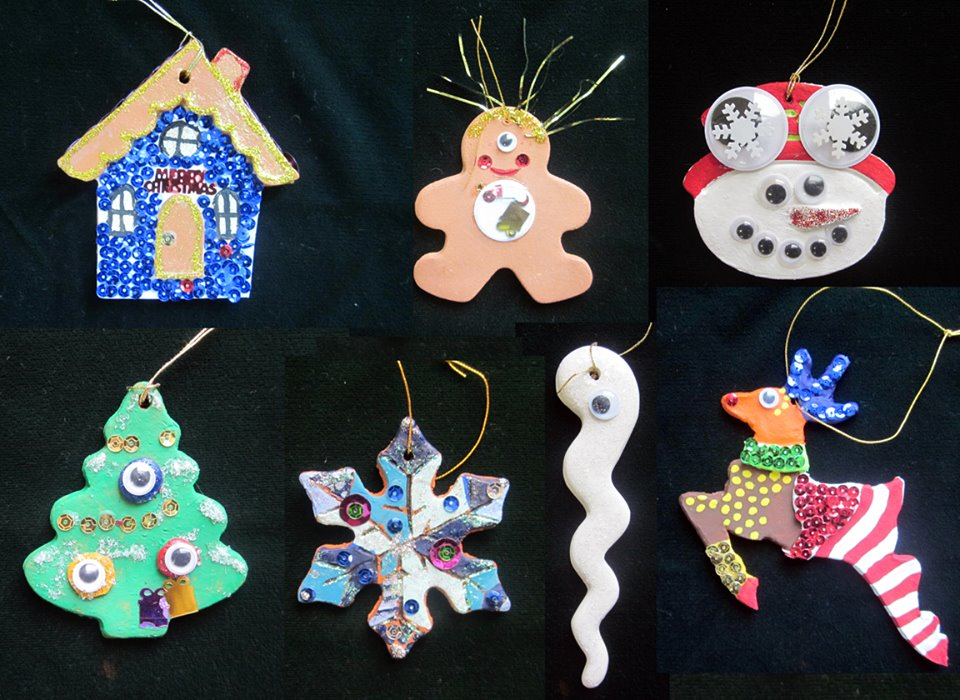 Some of our kooky creations: Disco Holiday House, Cyclops Gingerbread Man, Daredevil Snowman Pilot, Surveillance Christmas Tree, Icicle Sperm (PG rated) and Overjoyed Reindeer