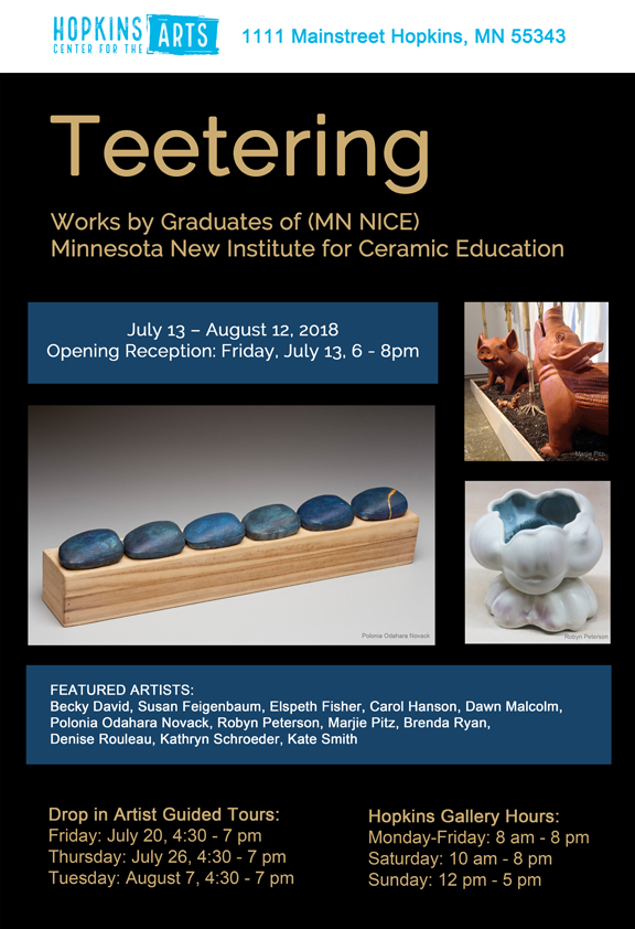 Teetering - MN Nice publicity poster