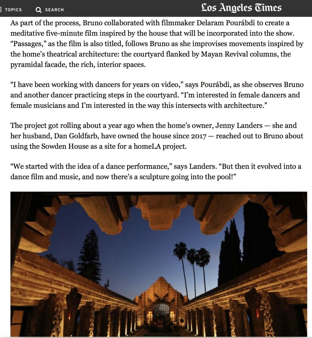 Delaram Pourabdi  PASSAGES event   Los Angeles  Times