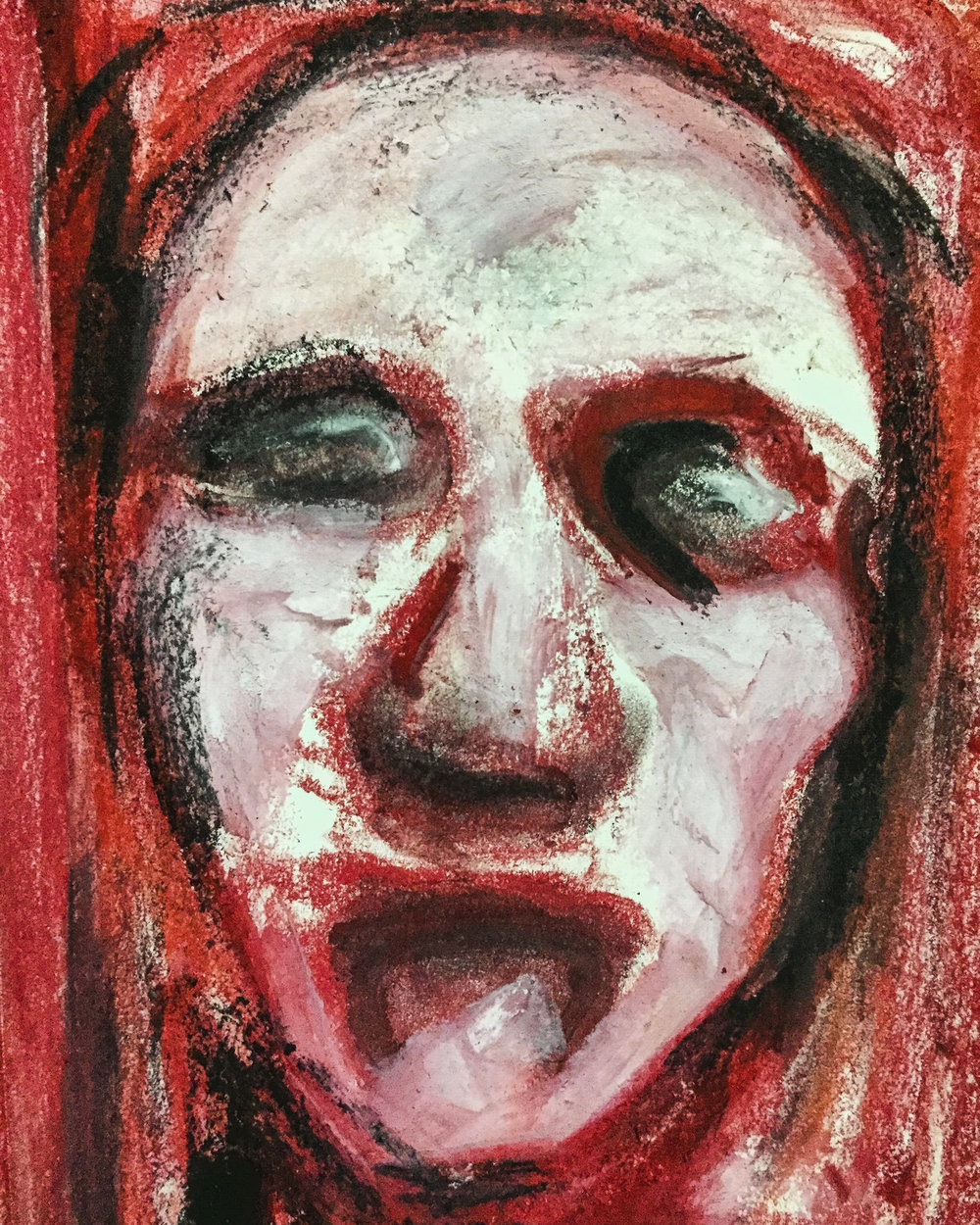 Bleed Us Dry (why don't you)   Pastel on Paper  2017