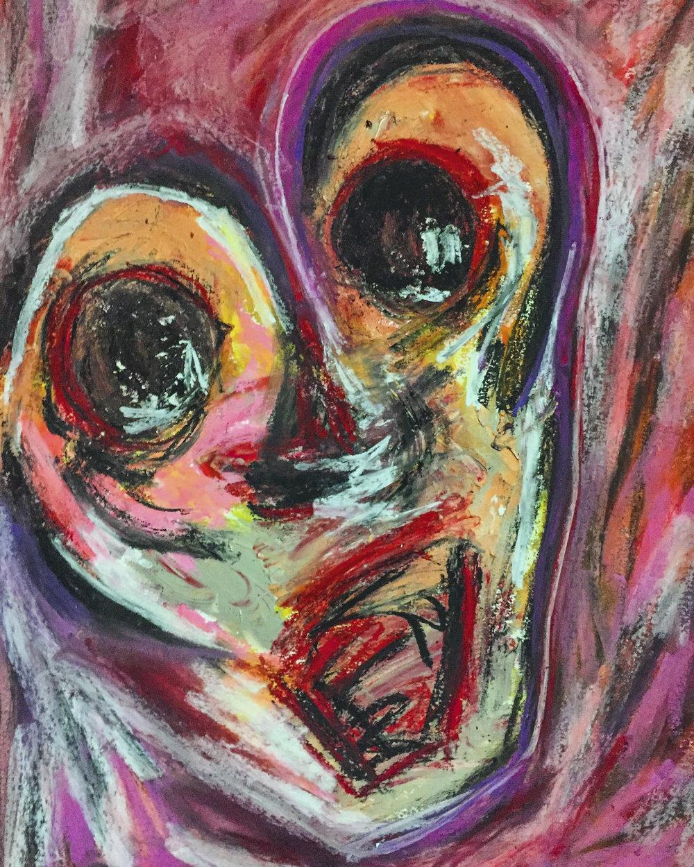 Mind Boggling   18 x 24  Pastel on Paper  2017
