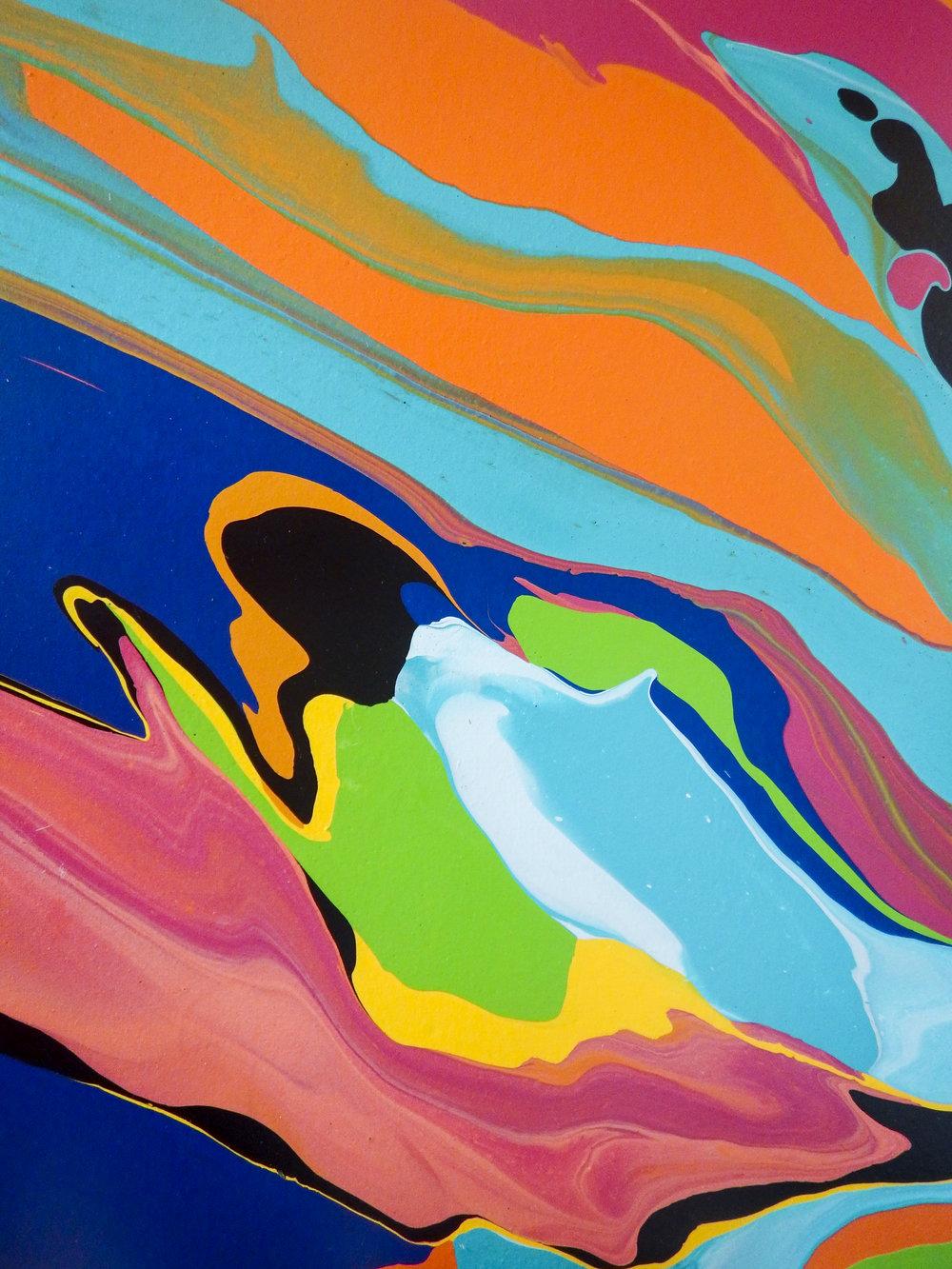 22 x 28  Latex Paint on Canvas  2018