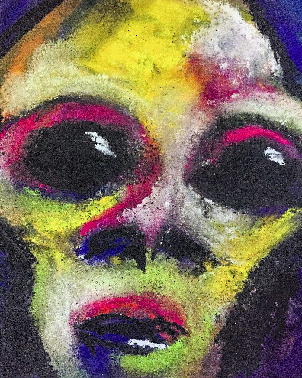 Lebron   6 x 6  Pastel on Paper  2017