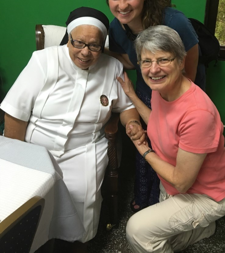 Parishioner Ann cole with sr. maria rosa,