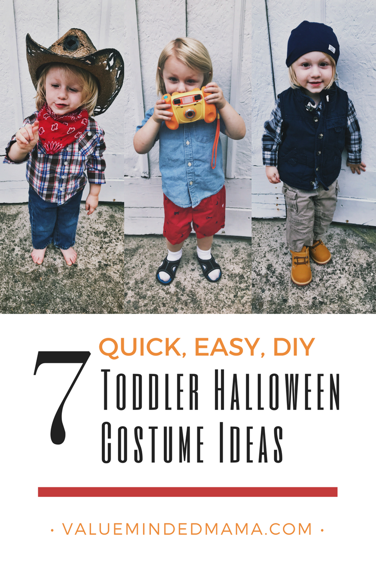 Halloween Costume Quick.7 Quick Easy Diy Toddler Halloween Costume Ideas Value Minded Mama