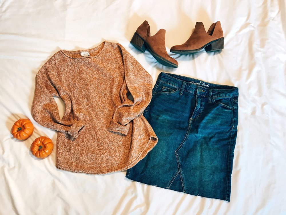 Sweater  |  Skirt  |  Booties