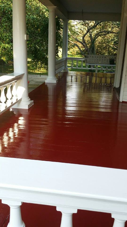 Stained Hardwood Porch