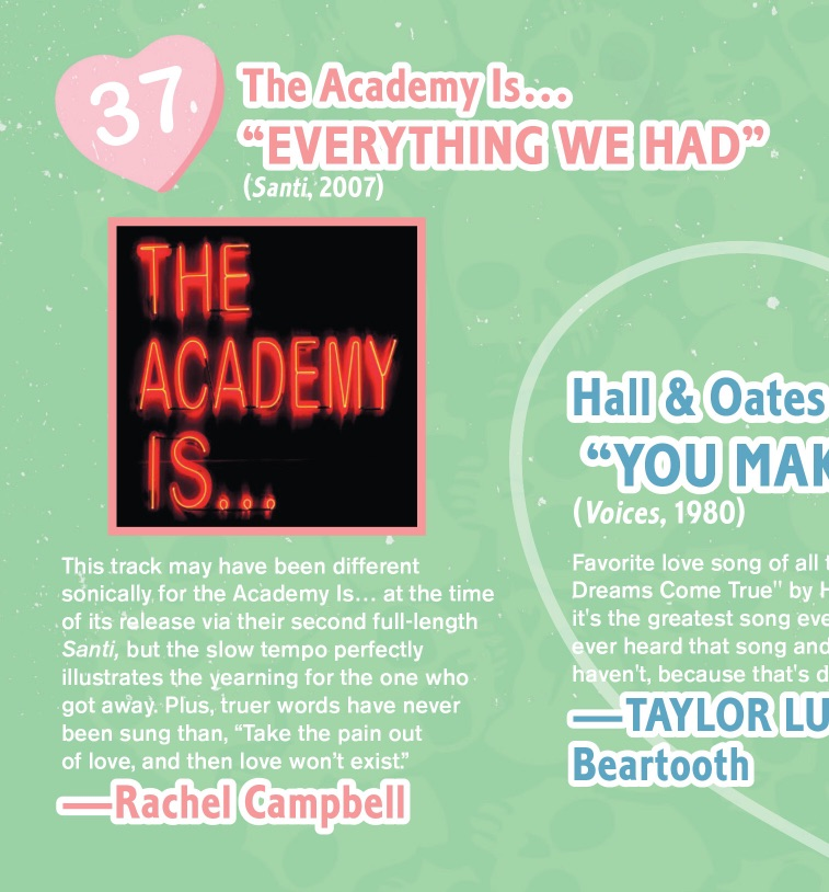#344 The 50 Best Love Songs: The Academy Is...
