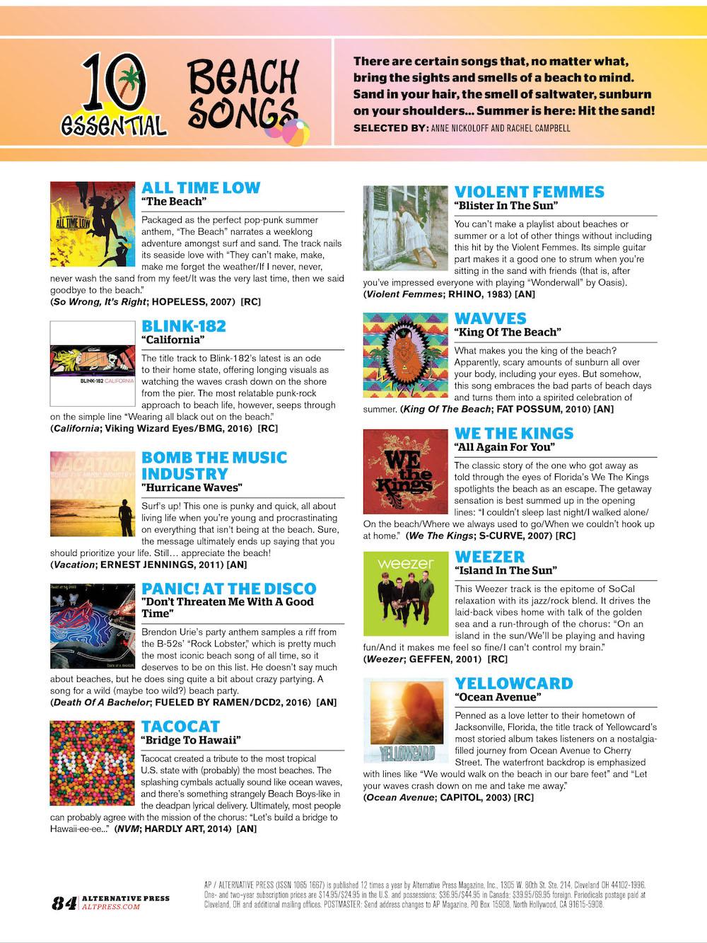 #348 10 Essential: Beach Songs