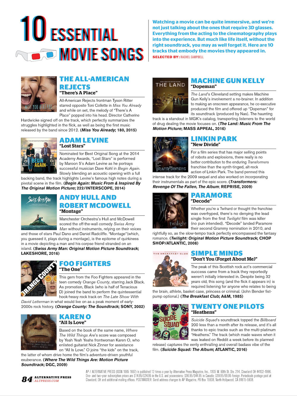 #349 10 Essential: Movie Songs