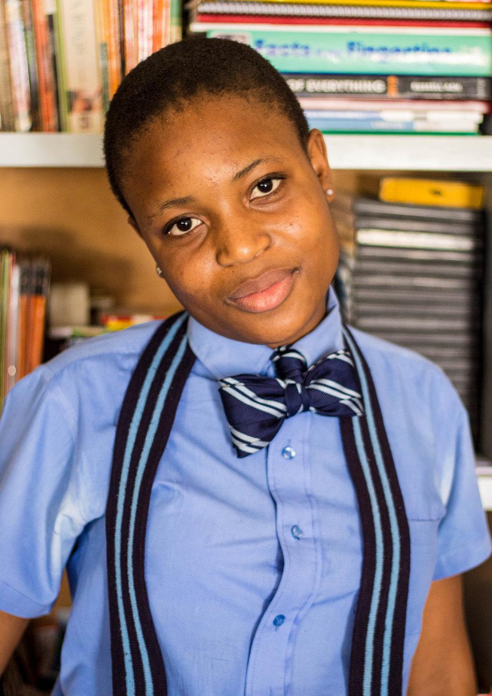 """I am intelligent. I will finish my education."" - Proginata Nyambi"