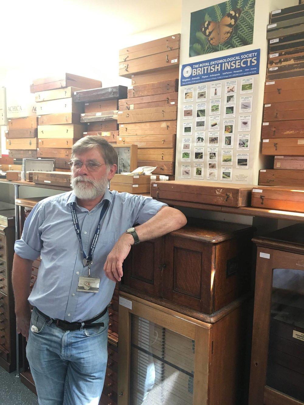 Simon Looking cool posing in the EntoHub at Harper Adams