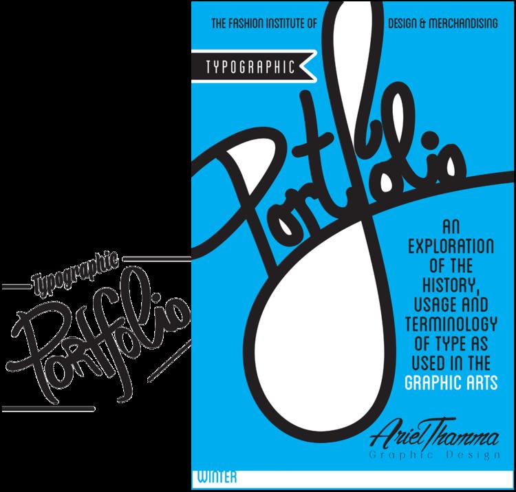 typography portfolio covers ariel thamma design