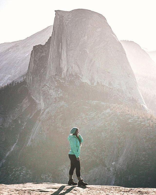 "We stumbled across these words by @nimisha_kumar and they hit home for us, bringing us back to our road trip to #Yosemite last fall... ⠀ ""Nothing brings out self-reflection in me more than being outside on the trail. But this time around, there was a stillness present that I haven't felt before. Each day wasn't filled with tons of thoughts. Some days it wasn't filled with anything at all. It was almost meditative to just be present. Taking in each breath and looking around me. Almost as if time stopped in Yosemite for a few days to give me a chance to be. It might be me or the magical air around sunrise but either way I'm grateful for that pause. ⠀ #ChasingSunrise #MakeItCount"