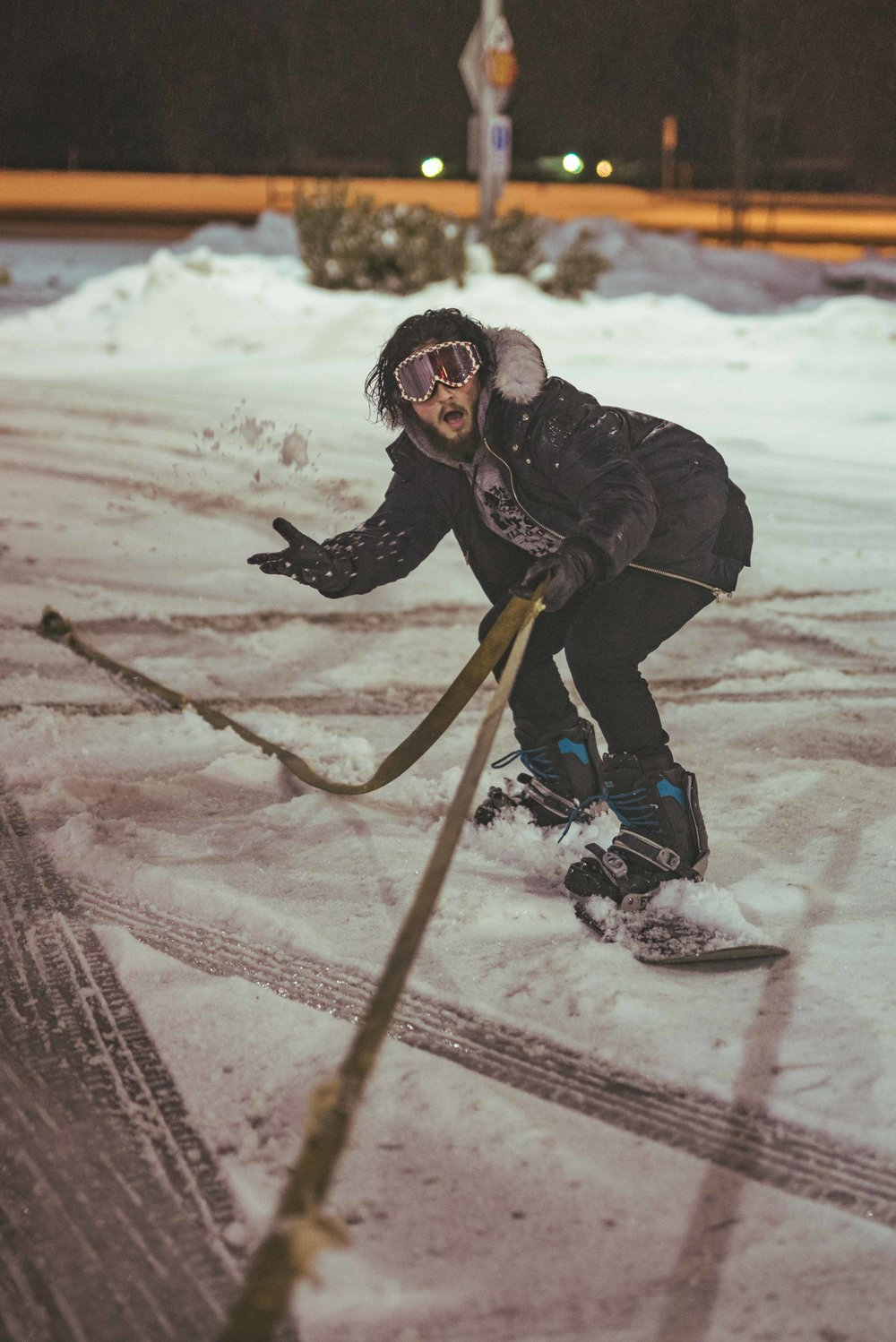"""""""Jacob, are you going to be comfortable with this?""""  """"Well, I haven't snowboarded in years, and am a pretty bad wake boarder. Should be fine."""""""