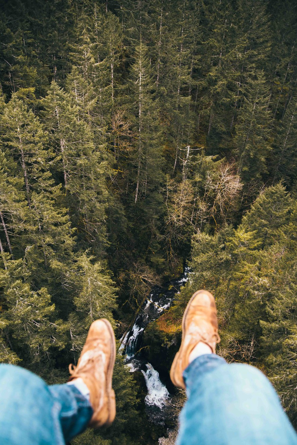 """Am I really even a photographer on the internet if I don't nearly kill myself getting these photos of my feet hanging over a nice view?"""