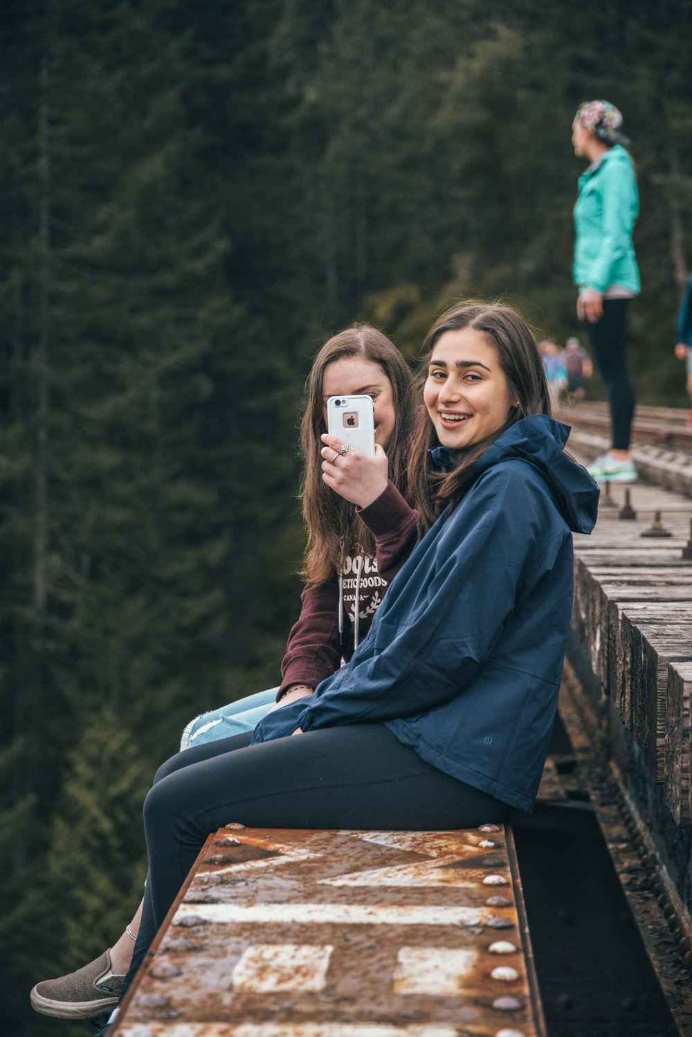 """""""This is fun and all, but Jacob, I'm going to cry if I drop my phone.""""  """"Here, let me point my camera at you to catch your reaction when you do."""""""