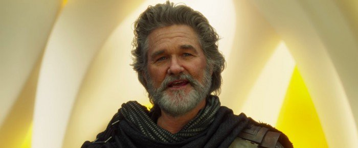 Kurt Russel as Ego in Guardians of the Galaxy Vol. 2