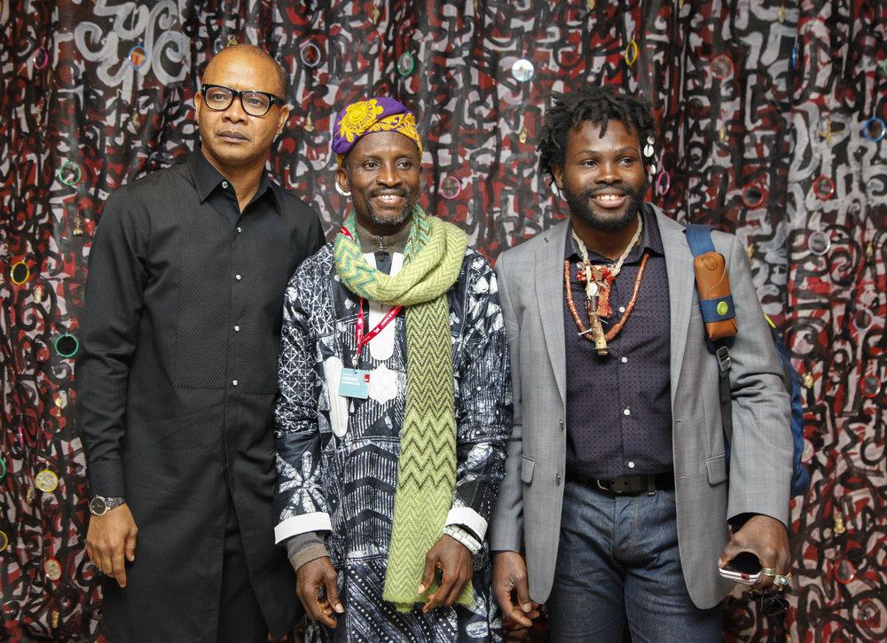 Victor Ehikhamenor, Jelili Atiku & Adetomiwa Gbadebo.jpg
