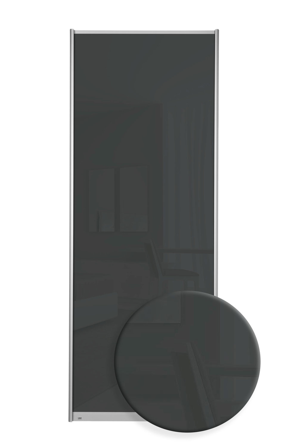 F7108 - Mørke grått glass