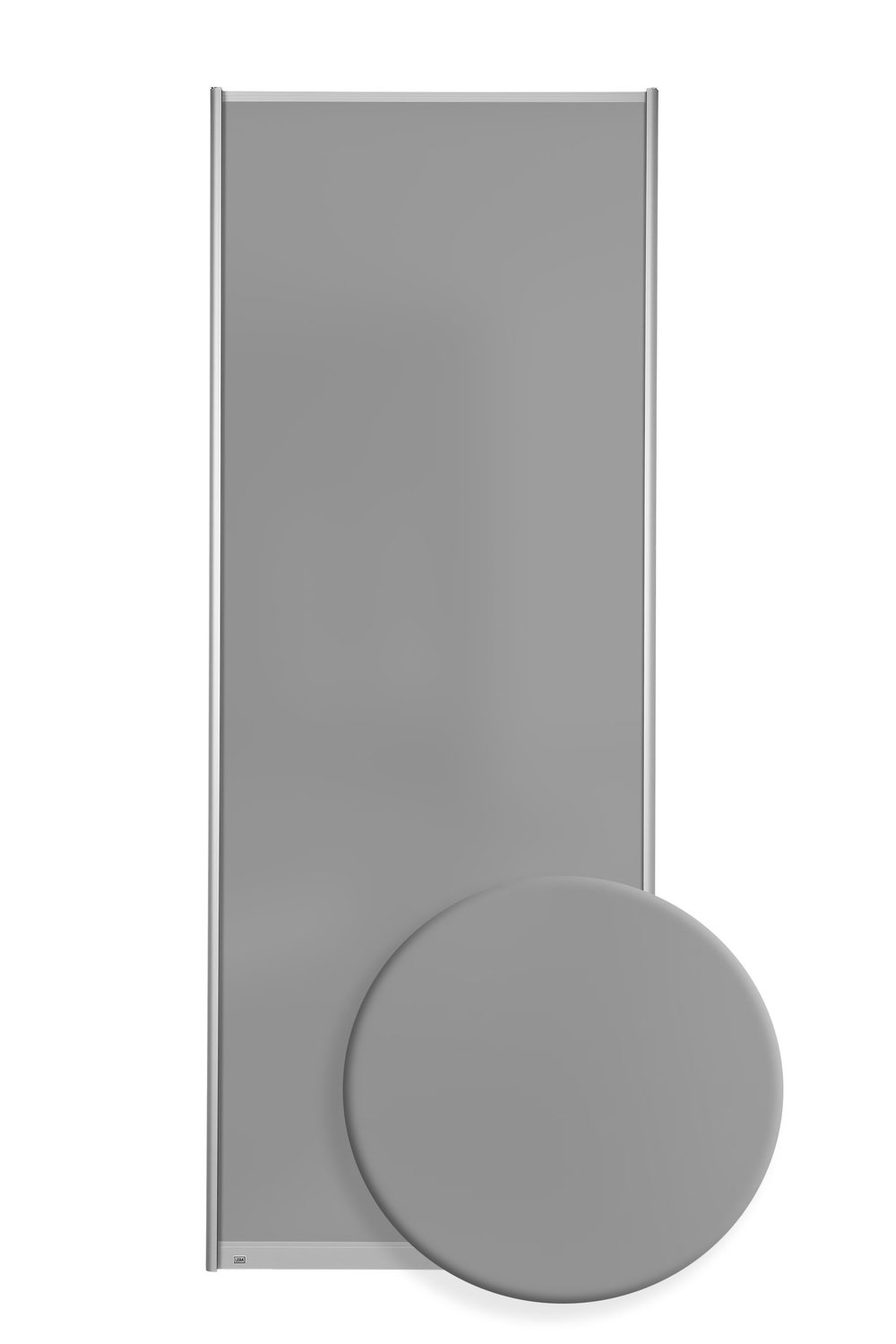 F7502 - Grått satinert glass