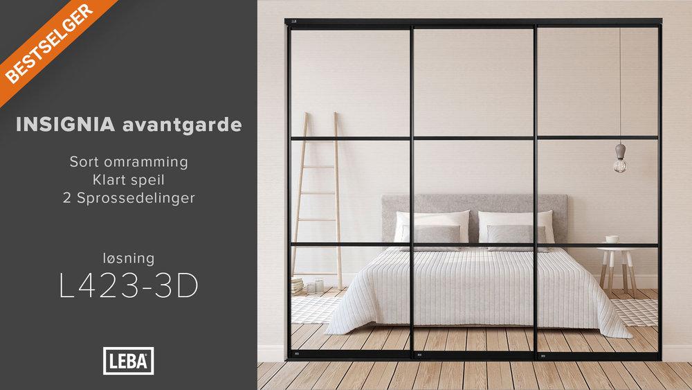 L423-3D-LEBA-Avantgarde-Sort-Klart-speil-2-Sprosser.jpg