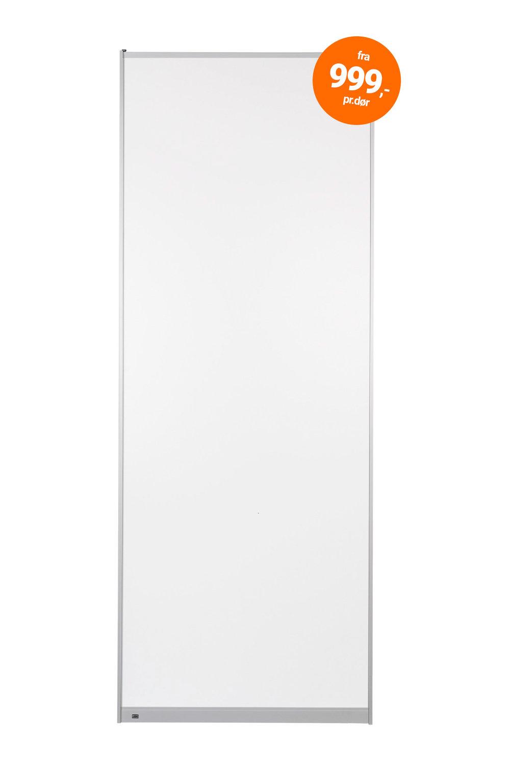 F5101 - Platinahvit   Bredde inntil 610mm - 999,- pr.dør Bredde inntil 1020mm - 1485,- pr.dør Maks høyde 2500mm