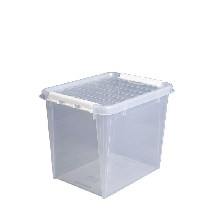 ADDERA spacebox - Høykvalitets oppbevaringsbokser til hjemmet og kontoret,som er beregnet for daglig bruk i årevisog leveres derfor med 15 års garanti.Leveres med lokk som festes enkelt med solide klips,og som sørger for at tingene dine oppbevares støvfritt.