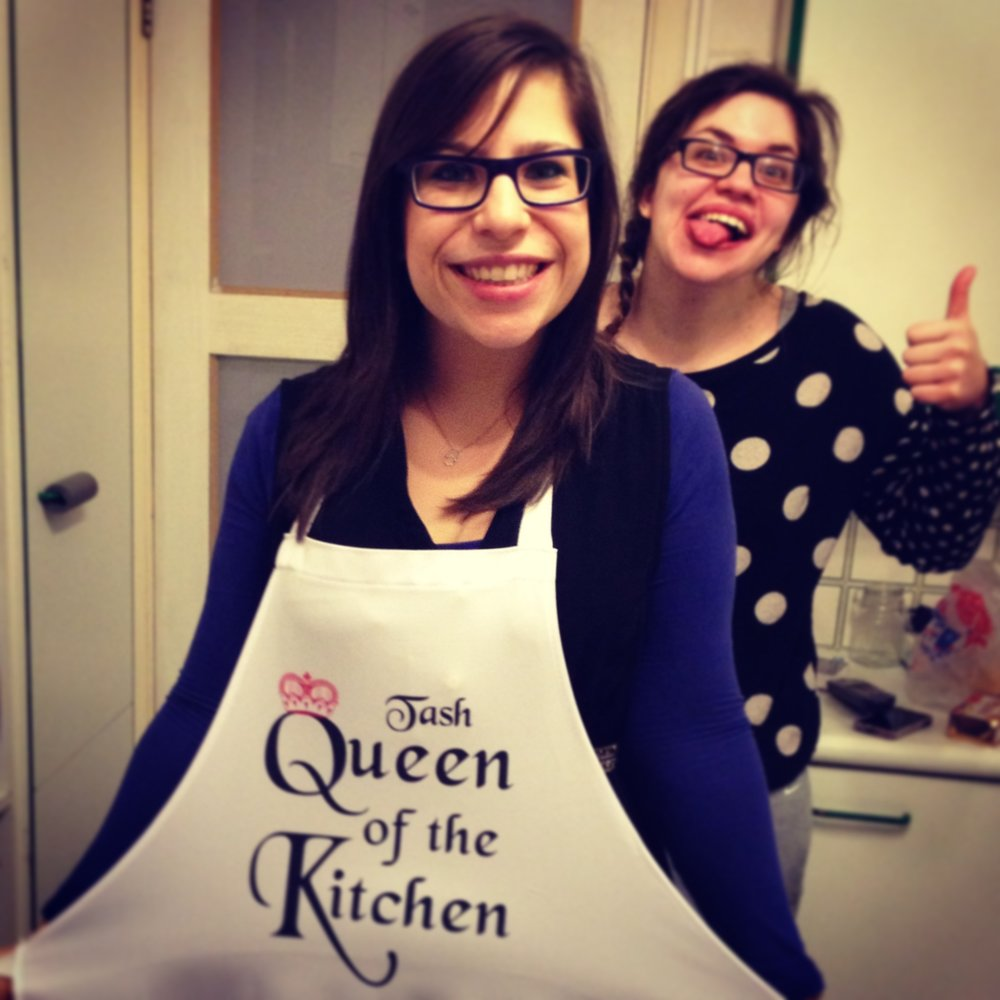 Queen of the kitchen and the Jester!